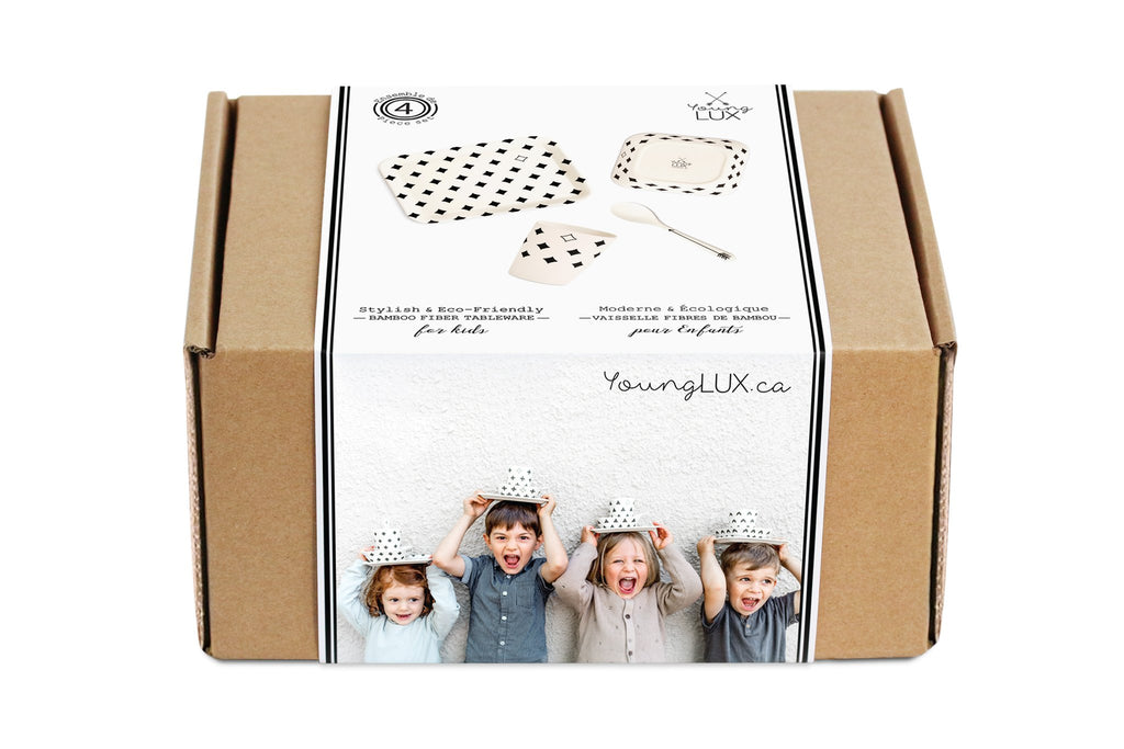 Young Lux tableware kids gift set.