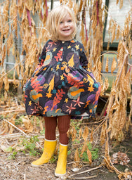 Autumn Leaves Pocket Dress