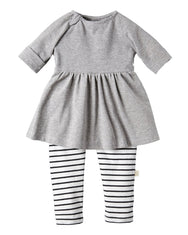 Empire Waist Dress All-in-one Grey