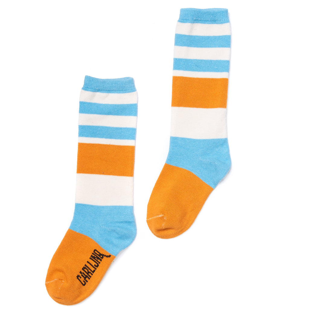 Knee Socks Blue-Yellow