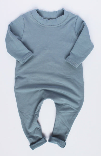 VINTAGE BLUE LONG SLEEVE ONESIE