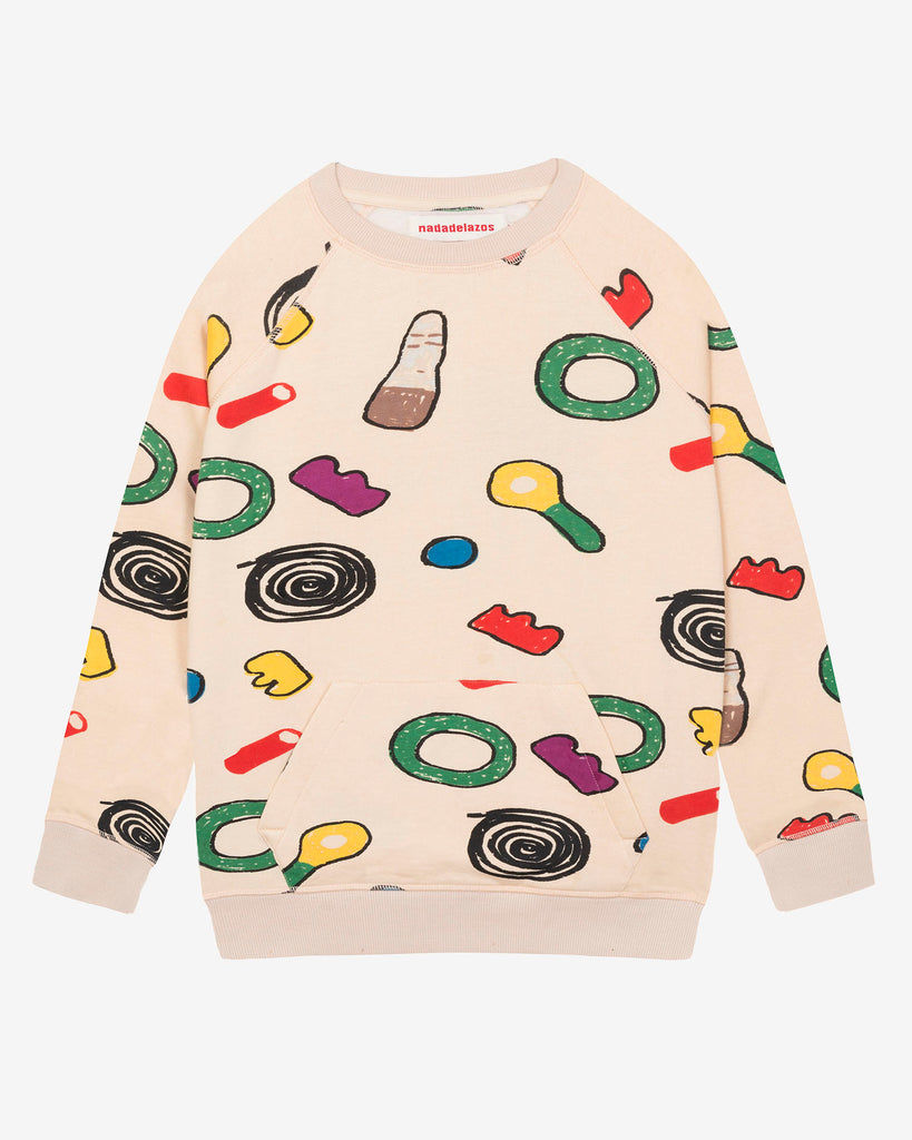 Nadadelazos Sweet print sweatshirt. Made ethically with 100% organic cotton.