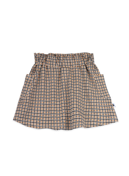 plaid skirt, high waist with pockets