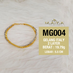 MG004 GELANG ITALY 2 LAYER