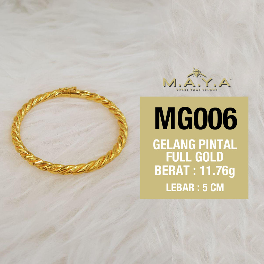 MG006 GELANG PINTAL FULL GOLD