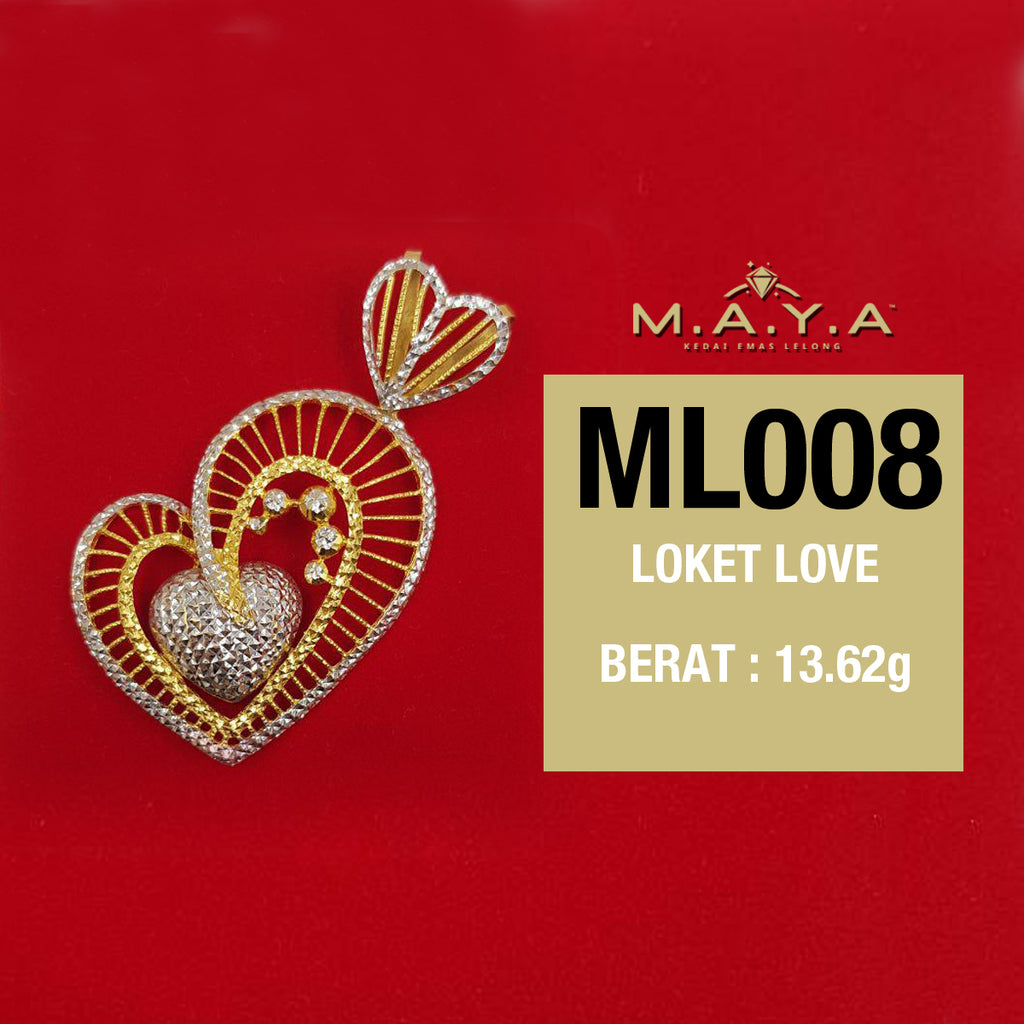 ML008 LOKET LOVE