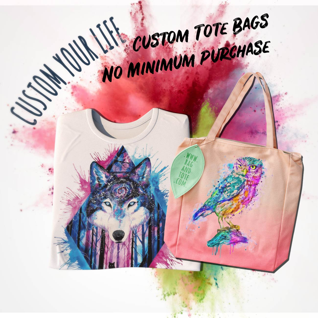 Shopper Tote Bag Cotton Canvas Cool Pawprint Wolf Music Ideal Gift Present