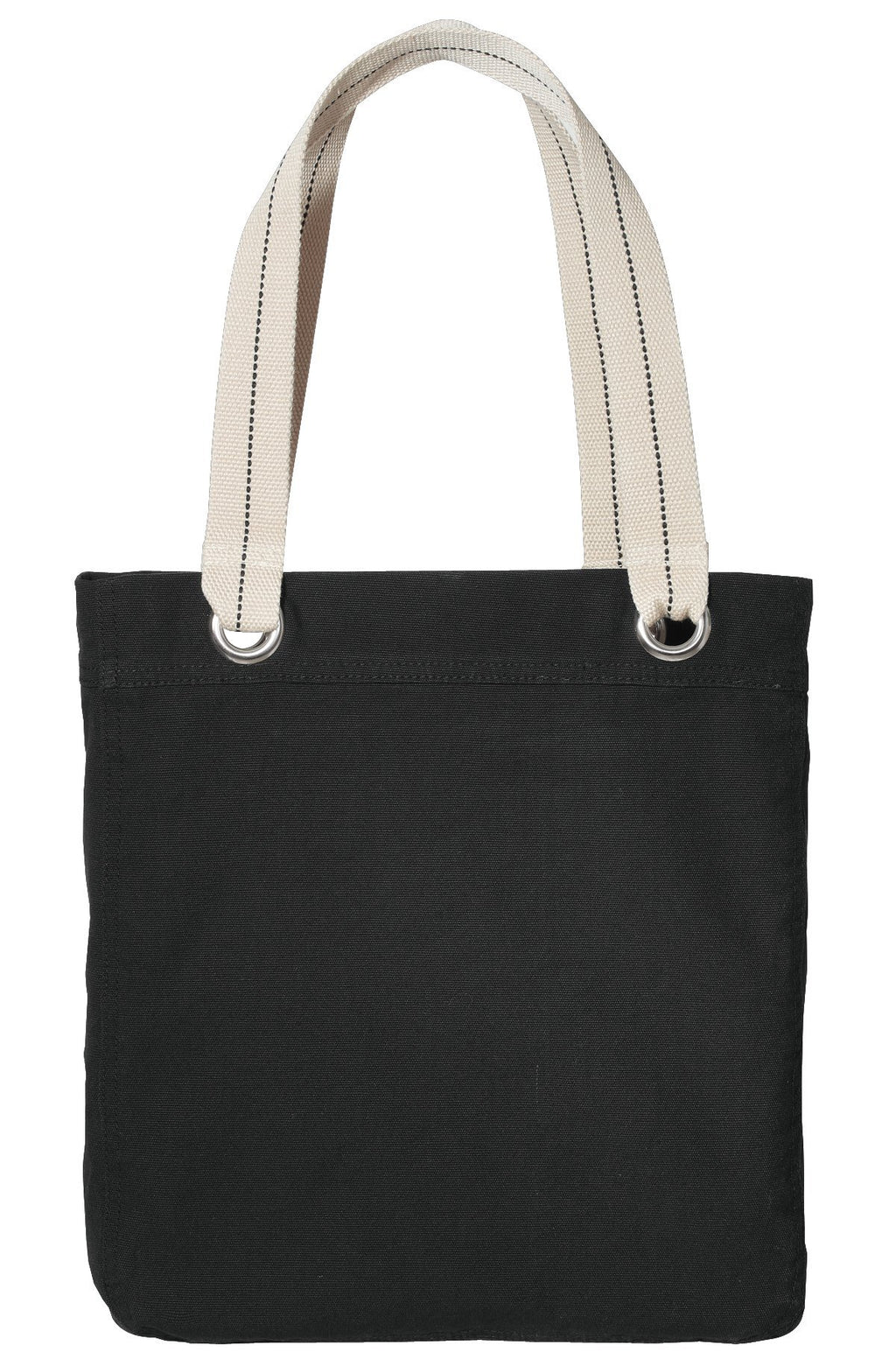 Bag Canvas Tote Bag BLACK Heavy Canvas tote Bag With Natural Color handle