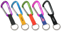 Keychain Carabiner w/ Strap and Split Ring