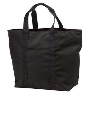 BAGANDTOTE CANVAS TOTE BAG BLACK All-Purpose Polyester Canvas Tote Bag