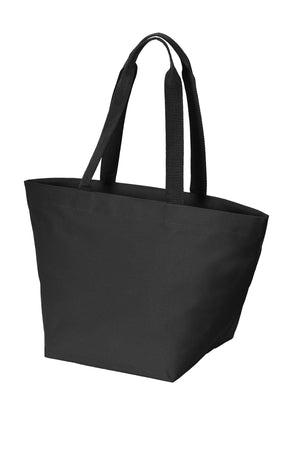 BAGANDTOTE Canvas Tote Bag BLACK Carry All Zip Polyester Canvas Tote Bag