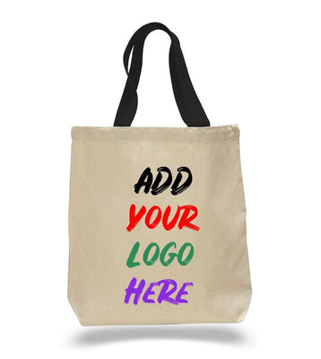 BAGANDTOTE CANVAS TOTE BAG BLACK CUSTOM COTTON CANVAS TOTE BAGS WITH CONTRAST HANDLES