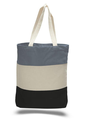BAGANDTOTE CANVAS TOTE BAG BLACK CUSTOM HEAVY CANVAS TOTE BAGS TRI-COLOR