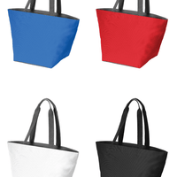 BAGANDTOTE Canvas Tote Bag Carry All Zip Polyester Canvas Tote Bag