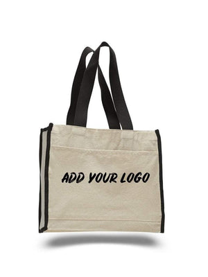BAGANDTOTE CANVAS TOTE BAG CUSTOM HEAVY CANVAS TOTE BAG WITH COLORED TRIM