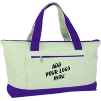 BAGANDTOTE CANVAS TOTE BAG CUSTOM HEAVY CANVAS ZIPPERED SHOPPING TOTE BAGS