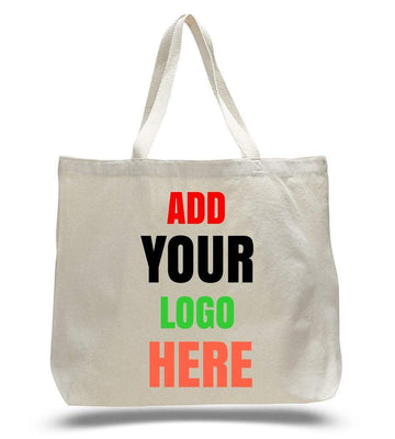 BAGANDTOTE CANVAS TOTE BAG CUSTOM JUMBO CANVAS TOTE BAG WEB HANDLES