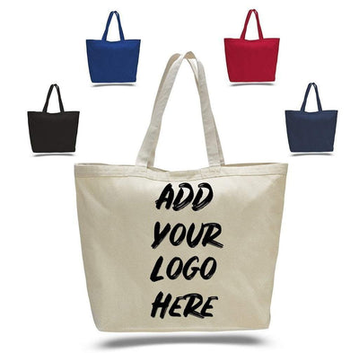 BAGANDTOTE CANVAS TOTE BAG CUSTOM LARGE HEAVY CANVAS TOTE BAGS WITH HOOK AND LOOP CLOSURE