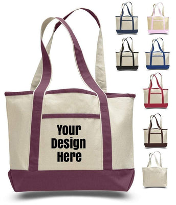 BAGANDTOTE CANVAS TOTE BAG CUSTOM SMALL HEAVY CANVAS TOTE BAG