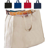 BAGANDTOTE CANVAS TOTE BAG FULL GUSSET HEAVY CHEAP CANVAS TOTE BAGS Set Of ( 50 Bags )