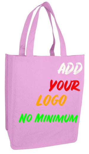 BAGANDTOTE CANVAS TOTE BAG LIGHT PINK CUSTOM HEAVY SHOPPER CANVAS TOTE BAG