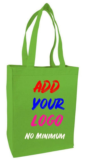 BAGANDTOTE CANVAS TOTE BAG LIME CUSTOM HEAVY SHOPPING CANVAS TOTE BAG