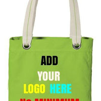 BAGANDTOTE CANVAS TOTE BAG LIME Custom Tote Bag Port Authority®