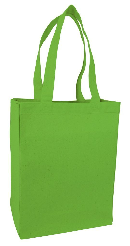 BAGANDTOTE CANVAS TOTE BAG LIME Heavy Canvas Shopping Tote
