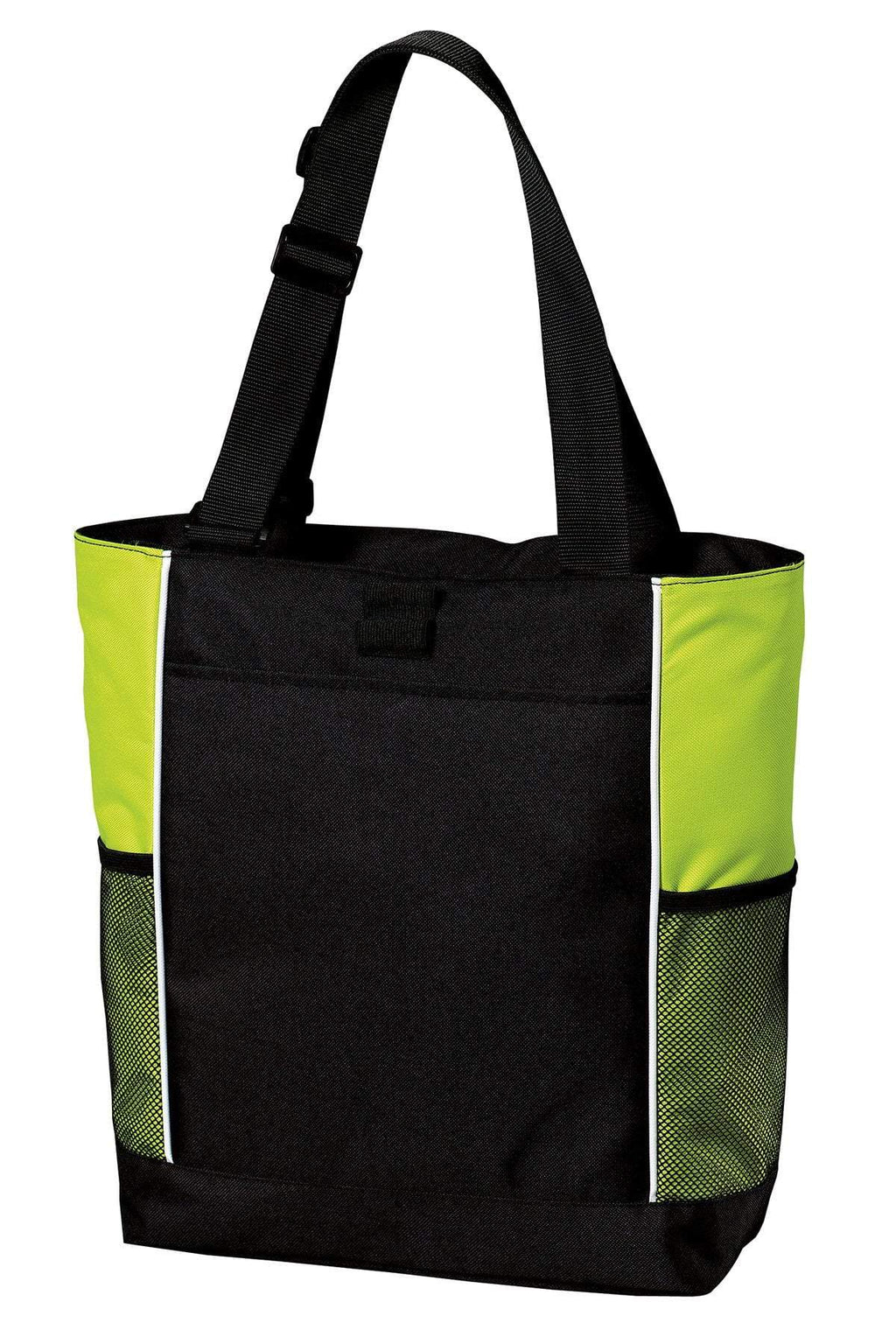 BAGANDTOTE CANVAS TOTE BAG LIME Panel Polyester Canvas Tote Bag