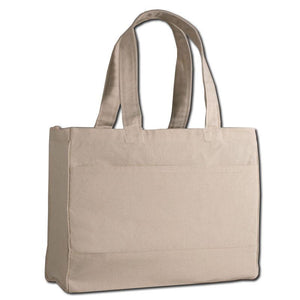 BAGANDTOTE CANVAS TOTE BAG NATURAL CUSTOM COTTON CANVAS TOTE BAG WITH INSIDE ZIPPER POCKET