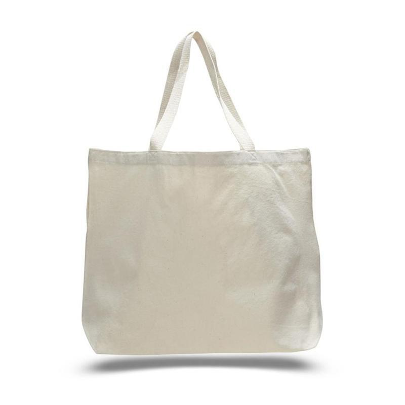 BAGANDTOTE CANVAS TOTE BAG NATURAL CUSTOM JUMBO CANVAS TOTE BAG WEB HANDLES