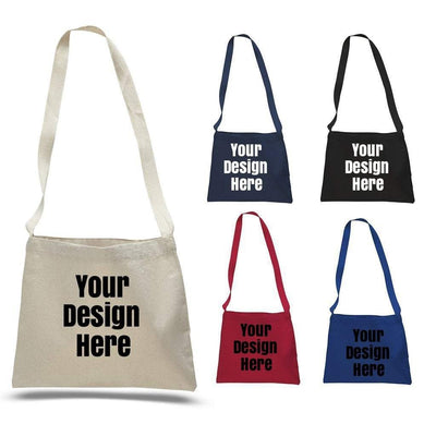 BAGANDTOTE CANVAS TOTE BAG NATURAL CUSTOM SMALL MESSENGER CANVAS TOTE BAG WITH LONG STRAPS