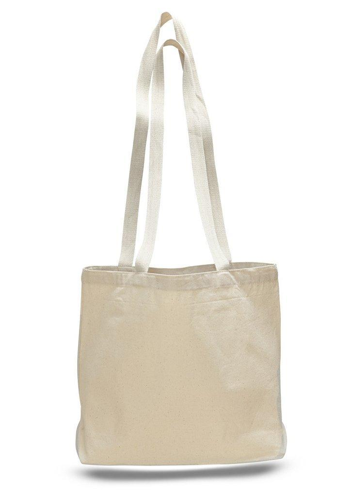 BAGANDTOTE CANVAS TOTE BAG NATURAL Large Canvas Value Messenger Tote Bags