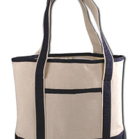 BAGANDTOTE CANVAS TOTE BAG NAVY SMALL HEAVY CANVAS TOTE BAG