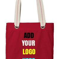 BAGANDTOTE CANVAS TOTE BAG RED Custom Tote Bag Port Authority®