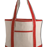 BAGANDTOTE CANVAS TOTE BAG RED SMALL HEAVY CANVAS TOTE BAG