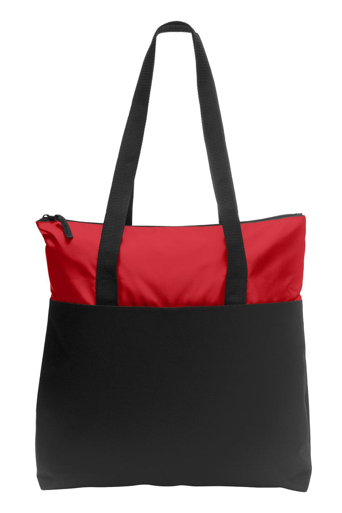 d00059e3c16d BAGANDTOTE CANVAS TOTE BAG RED Zip-Top Convention Polyester Canvas Tote Bag