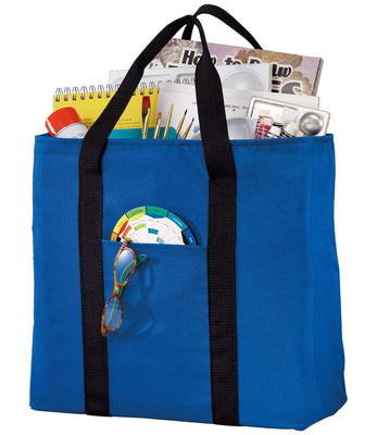 BAGANDTOTE CANVAS TOTE BAG ROYAL All-Purpose Polyester Canvas Tote Bag
