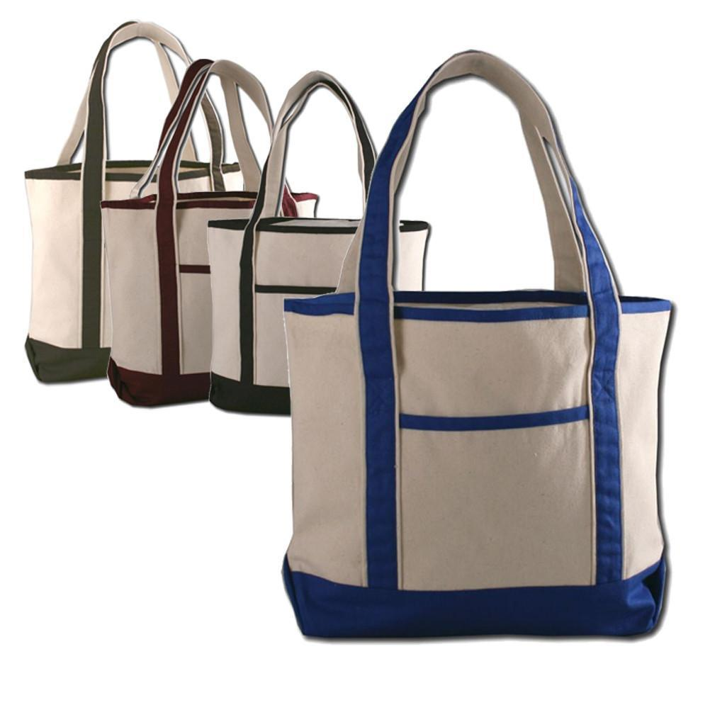 BAGANDTOTE CANVAS TOTE BAG SET OF ((12)) JUMBO SIZE HEAVY CANVAS DELUXE TOTE BAG