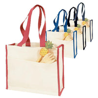 BAGANDTOTE CANVAS TOTE BAG SET OF 50 HEAVY CANVAS TOTE BAG WITH COLORED TRIM