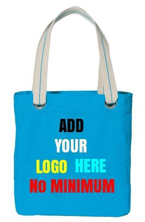 BAGANDTOTE CANVAS TOTE BAG TURQUOISE Custom Tote Bag Port Authority®