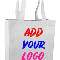 BAGANDTOTE CANVAS TOTE BAG WHITE CUSTOM HEAVY SHOPPING CANVAS TOTE BAG