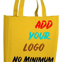 BAGANDTOTE CANVAS TOTE BAG YELLOW CUSTOM HEAVY SHOPPER CANVAS TOTE BAG