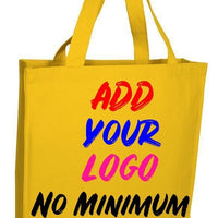 BAGANDTOTE CANVAS TOTE BAG YELLOW CUSTOM HEAVY WHOLESALE CANVAS TOTE BAGS WITH FULL GUSSET