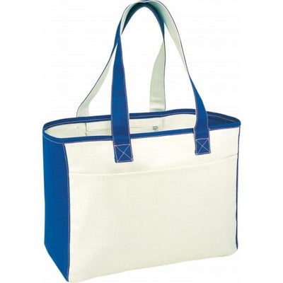 BAGANDTOTE.COM CANVAS TOTE BAG Canvas Tote Bag Front Slip Pocket With Hook And Loop Closure