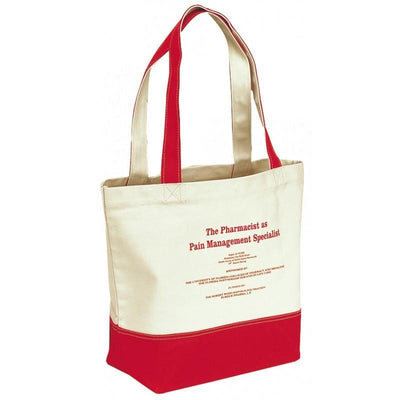 BAGANDTOTE.COM CANVAS TOTE BAG Red Canvas Tote Bag Dual Carrying Handles