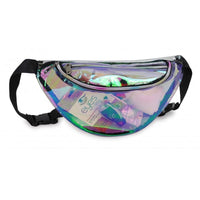 BAGANDTOTE.COM Clear Bags Clear Holographic Fanny Pack
