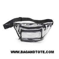 BAGANDTOTE.COM Clear Bags Clear Three Zipper Fanny Pack