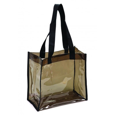 BAGANDTOTE.COM Clear Bags Transparent Black Tote Bag