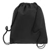 BAGANDTOTE.COM DRAWSTRING Black Non-Woven Polypropylene Drawstring Backpack